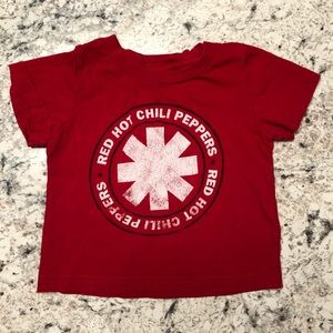 Red Hot Chili Peppers RHCP Red Band Logo Tee